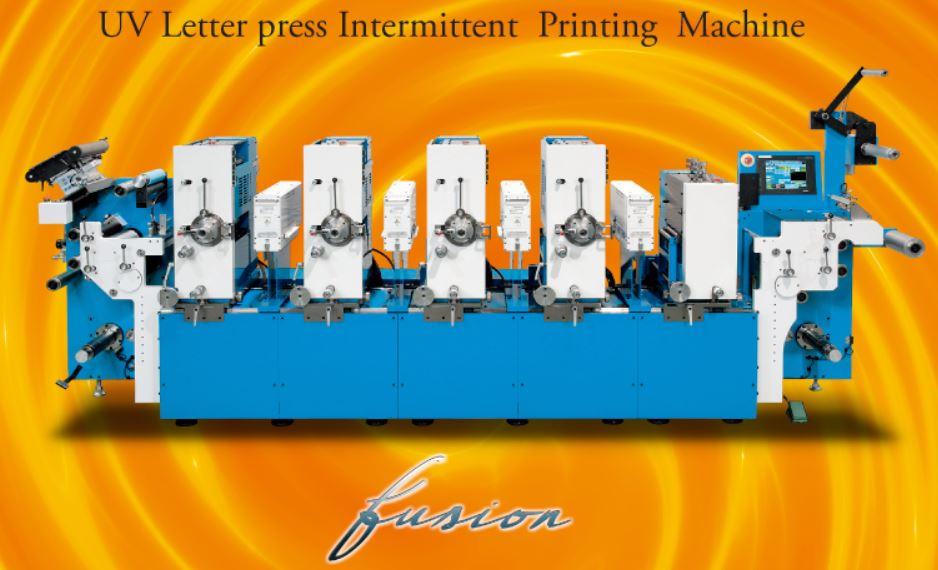 Máy in nhãn cuộn letter press Fusion